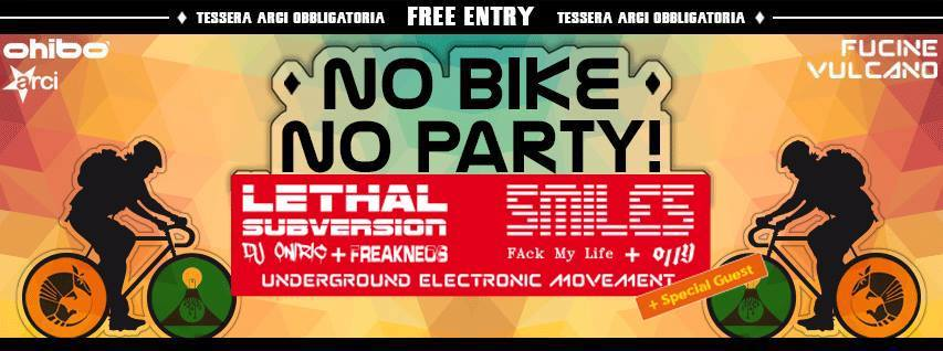 NO BIKE//NO PARTY – OHIBO' 14 OTTOBRE