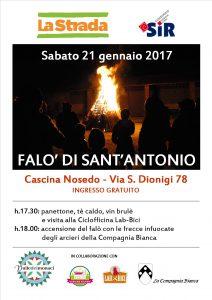 Falò s. Antonio Cascina Nosedo 2017